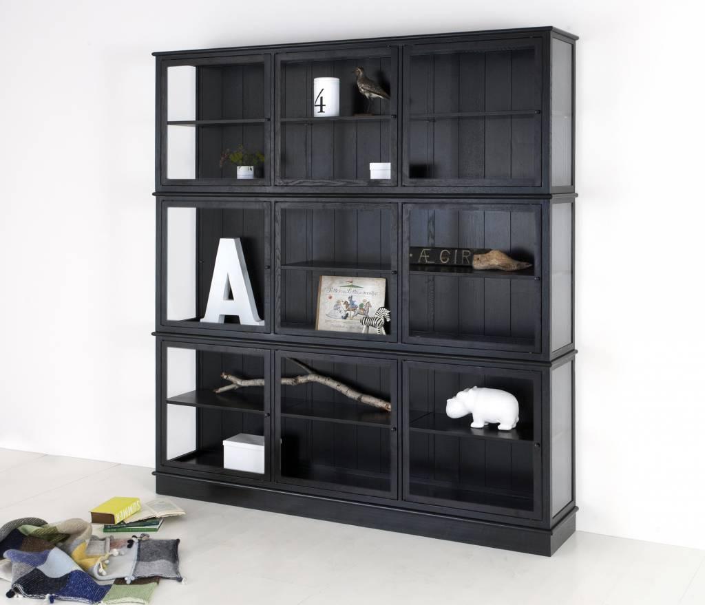 oliver furniture glasvitine gro schwarz. Black Bedroom Furniture Sets. Home Design Ideas