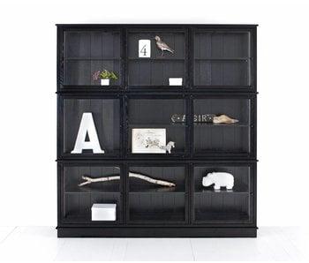 Oliver Furniture Großer Vitrinenschrank, schwarz