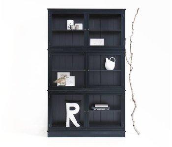 Oliver Furniture Schmaler Vitrinenschrank, schwarz