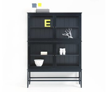 Oliver Furniture Kleiner Vitrinenschrank mit Beinen, schwarz