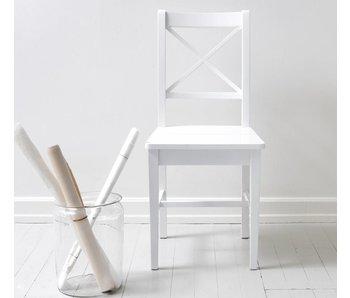 Oliver Furniture Stuhl 10 mit Kreuz, weiß
