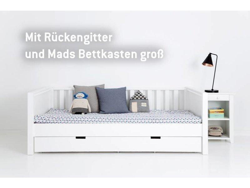 einzelbett wei. Black Bedroom Furniture Sets. Home Design Ideas