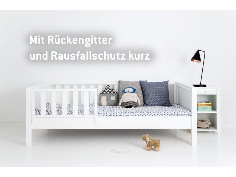 Kinderbett 90x200 weiß rausfallschutz  Sanders Fanny Himmelbett 90 x 200 - www.romy-kindermoebel.de