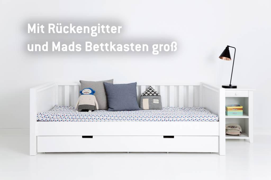 Kinderbett weiß 90x200 bettkasten  Sanders Fanny Himmelbett 90 x 200 - www.romy-kindermoebel.de