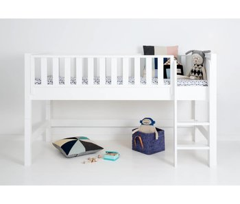 Sanders Fanny Halbhohes Bett 90 x 200 cm weiß