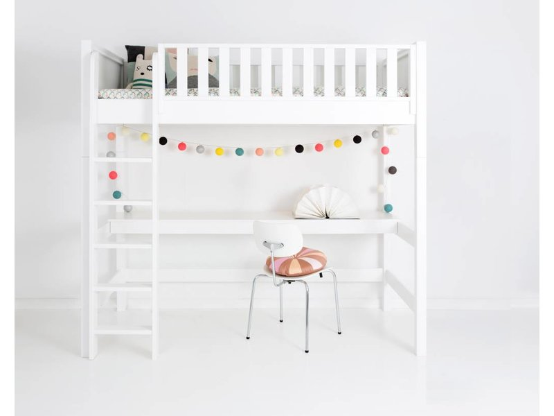 sanders fanny hochbett 90 x 200 weiss. Black Bedroom Furniture Sets. Home Design Ideas
