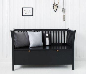 Oliver Furniture Truhenbank mit Sprossen kurz, schwarz