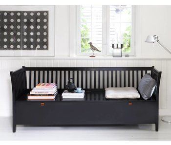 Oliver Furniture Truhenbank mit Sprossen groß, schwarz