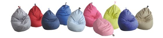 Canvas Sitzsack, -Kissen, Pouff