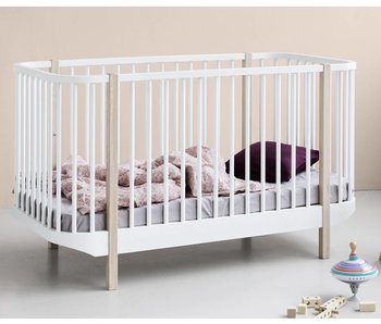 Oliver Furniture Baby- und Kinderbett Wood, weiß-Eiche