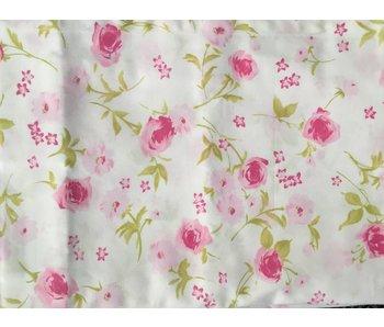 Annette Frank Vorhang Spielbett Rosen rosa-grün