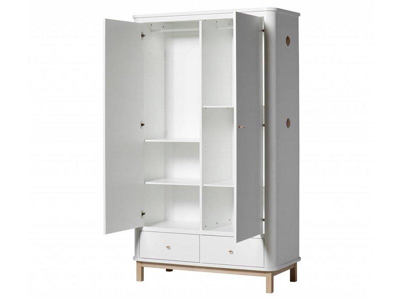 oliver furniture wood kleiderschrank 2 t rig eiche www. Black Bedroom Furniture Sets. Home Design Ideas