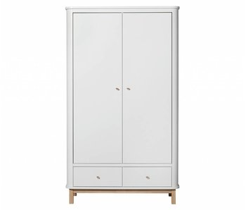 Oliver Furniture Kleiderschrank Wood 2-türig Eiche