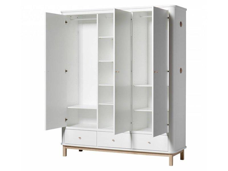 oliver furniture gro er wood kleiderschrank 3 t rig eiche. Black Bedroom Furniture Sets. Home Design Ideas
