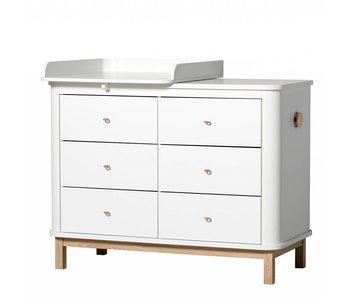 Oliver Furniture Wood Wickelkommode klein weiss/Eiche