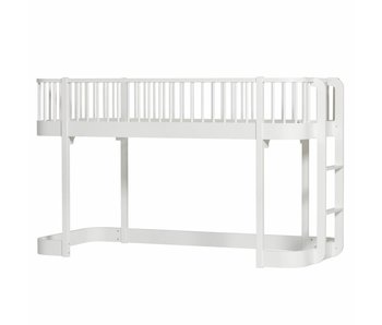 Oliver Furniture Halbhohes Hochbett Wood weiß