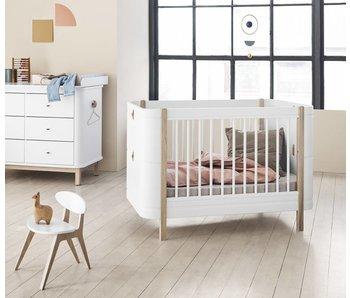 Oliver Furniture Babybett Wood Mini+, weiß-Eiche