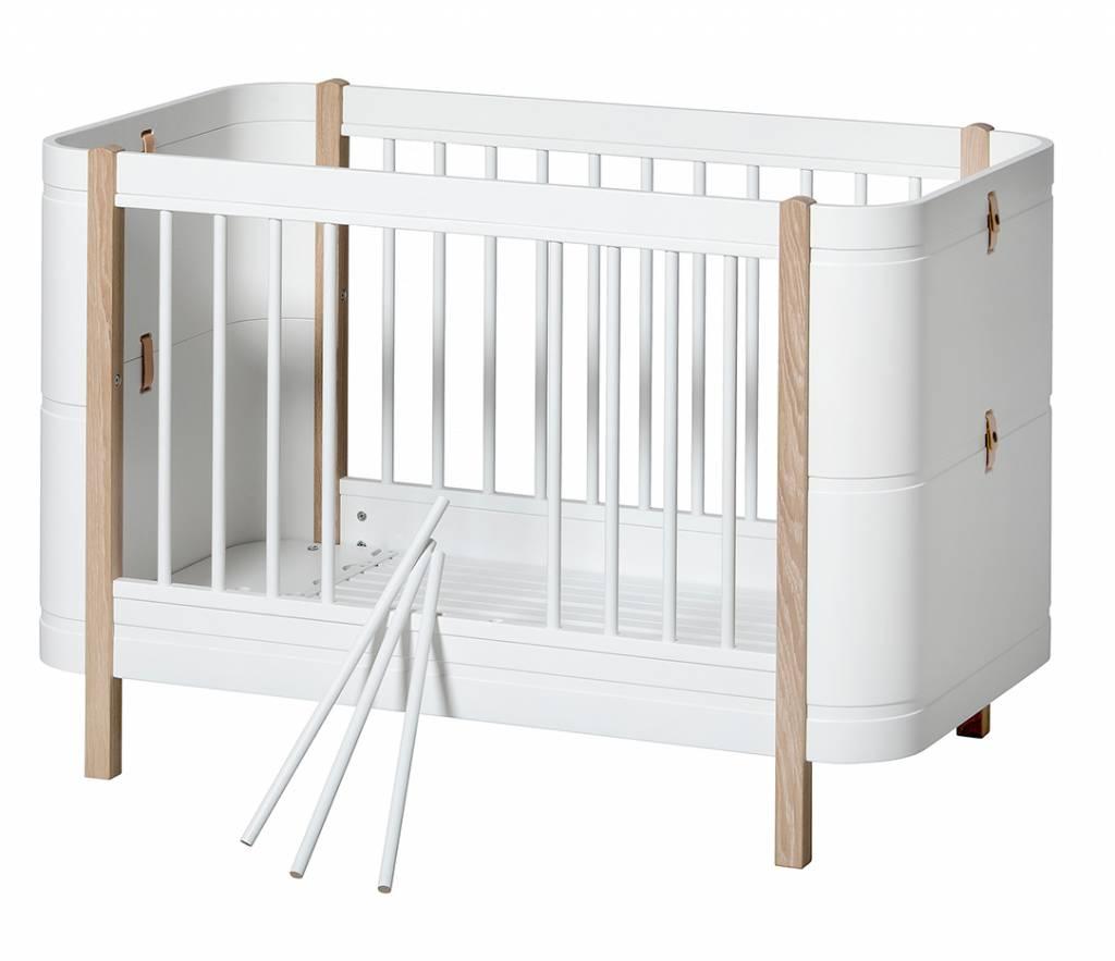 Oliver Furniture Wood Mini Babybett Weiss Eiche Wwwromy