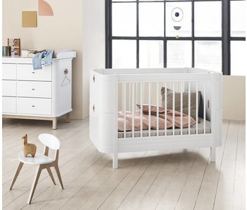Oliver Furniture Wood Mini+ Babybett, weiß