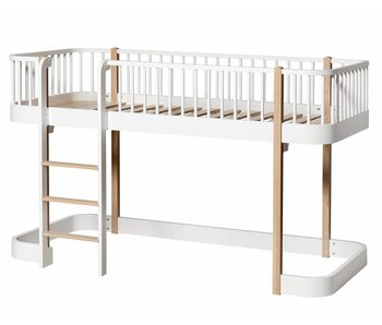 Oliver Furniture Halbhohes Hochbett Wood Eiche