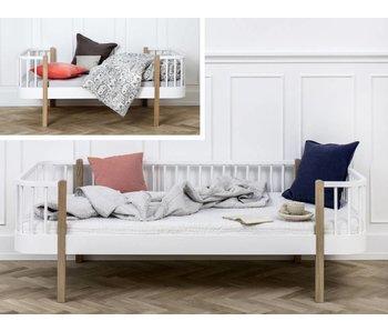 Oliver Furniture Umbau Juniorbett zum Bettsofa Wood weiß/Eiche