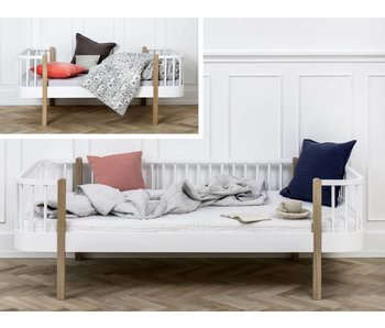 Oliver Furniture Umbau Juniorbett zum Junior Bettsofa Wood weiß/Eiche