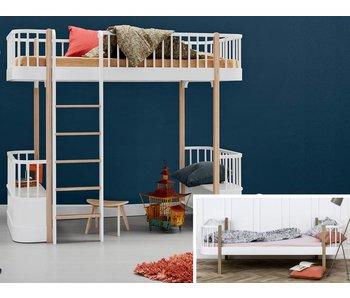 Oliver Furniture Umbau Einzelbett zum Hochbett Wood weiß/Eiche
