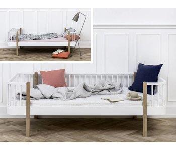 Oliver Furniture Umbau Einzelbett zum Bettsofa Wood weiß/Eiche