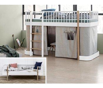 Oliver Furniture Umbau Bettsofa zum halbhohen Bett Wood weiß/Eiche