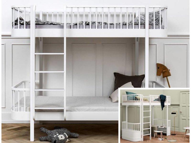 Etagenbett Oliver : Oliver furniture etagenbett seaside mit gerader leiter weiß