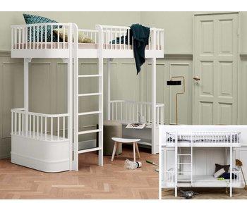 Oliver Furniture Umbau Etagenbett zum Hochbett Wood weiß