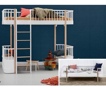 Oliver Furniture Umbau Bettsofa zum Hochbett Wood weiß/Eiche