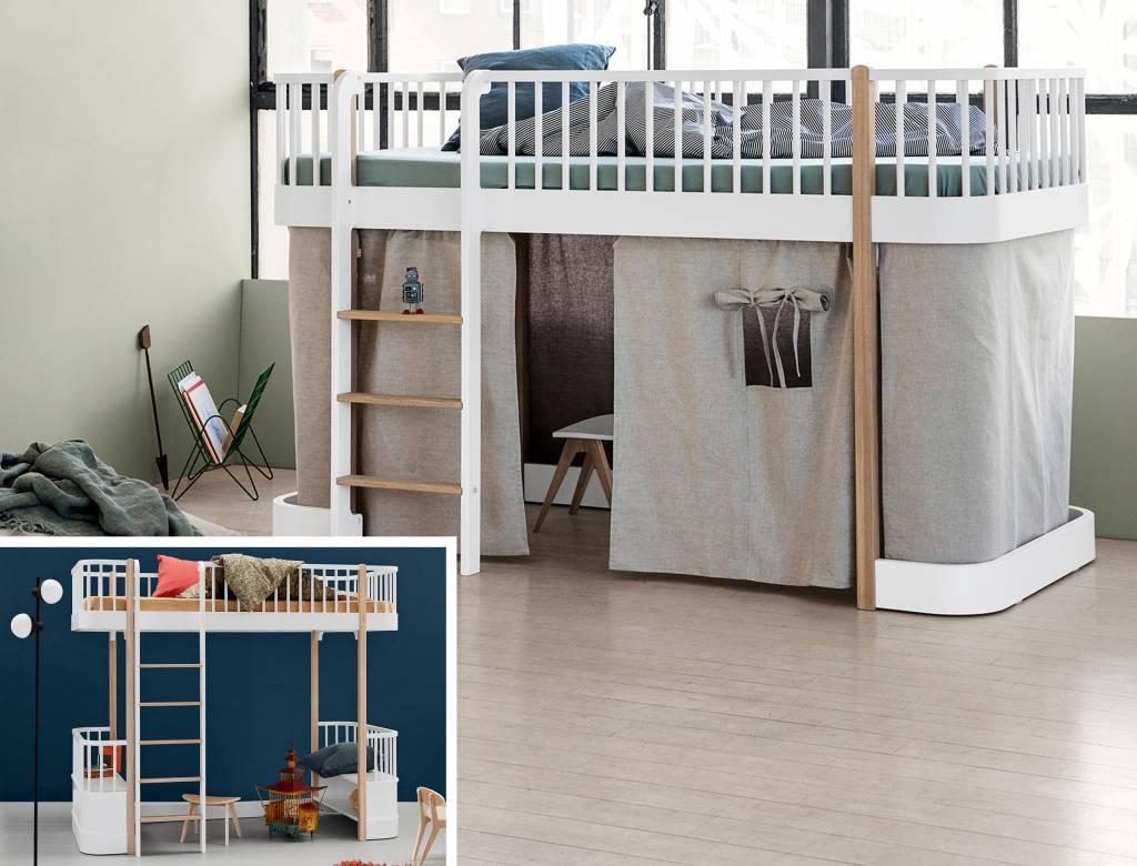 Cool Oliver Furniture Umbausatz Vom Hochbett Zum Halbhohen Bett Wood  Weieiche With Oliver Furniture Hochbett.