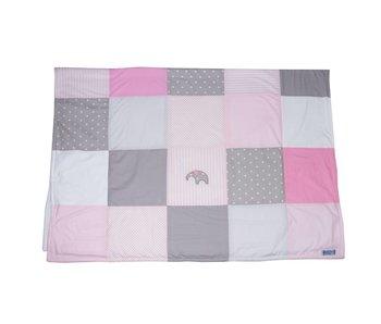 Annette Frank Patchworkdecke Elefanten rosa  klein