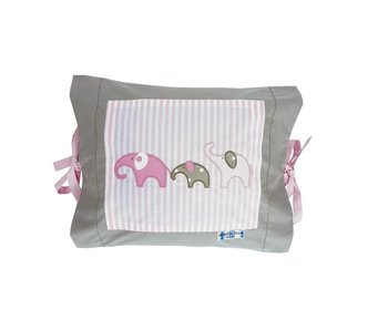 Annette Frank Kissenbezug Elefant rosa 35 x 40 cm