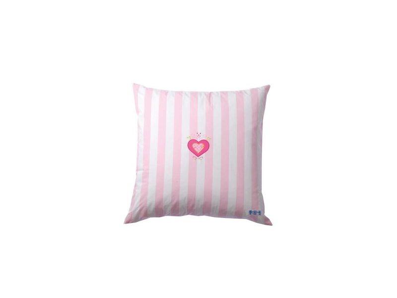 Annette Frank Paradekissen Herz Maxistreifen rosa 60 x 60 cm