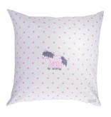 Annette Frank Paradekissen Pony weiß-rosa Punkte 60 x 60 cm