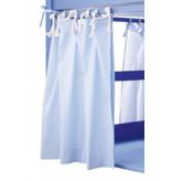 Annette Frank Vorhang Spielbett uni hellblau 120 x 80 cm