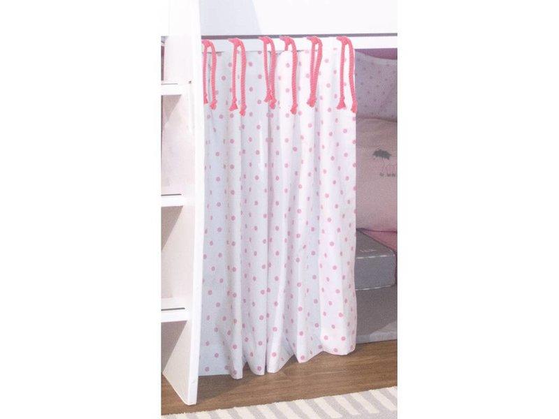 Annette Frank Vorhang Spielbett Pony Punkte rosa 120 x 80 cm