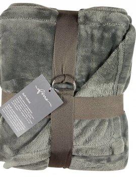 fine Plaid Softvelvet, grau, 140/200 cm