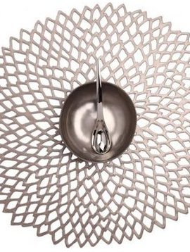 chilewich Platzset Dahlia,gunmetall, 39 cm floral