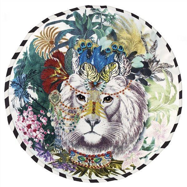 Christian Lacroix Kissen Jungle King Opiat D45cm