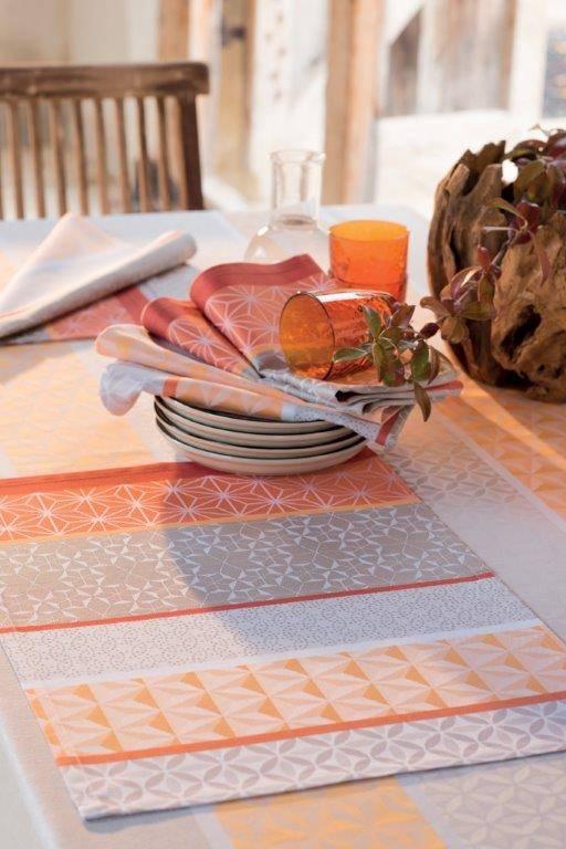 Garnier Thiebaut Tischset ;Mille Geomertie mango, 55/40 cm