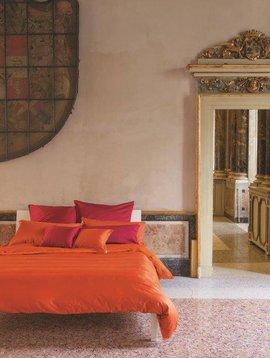 Bassetti Kissenbezug Tinta unita, Farbe amaranto rot, 40/40 cm