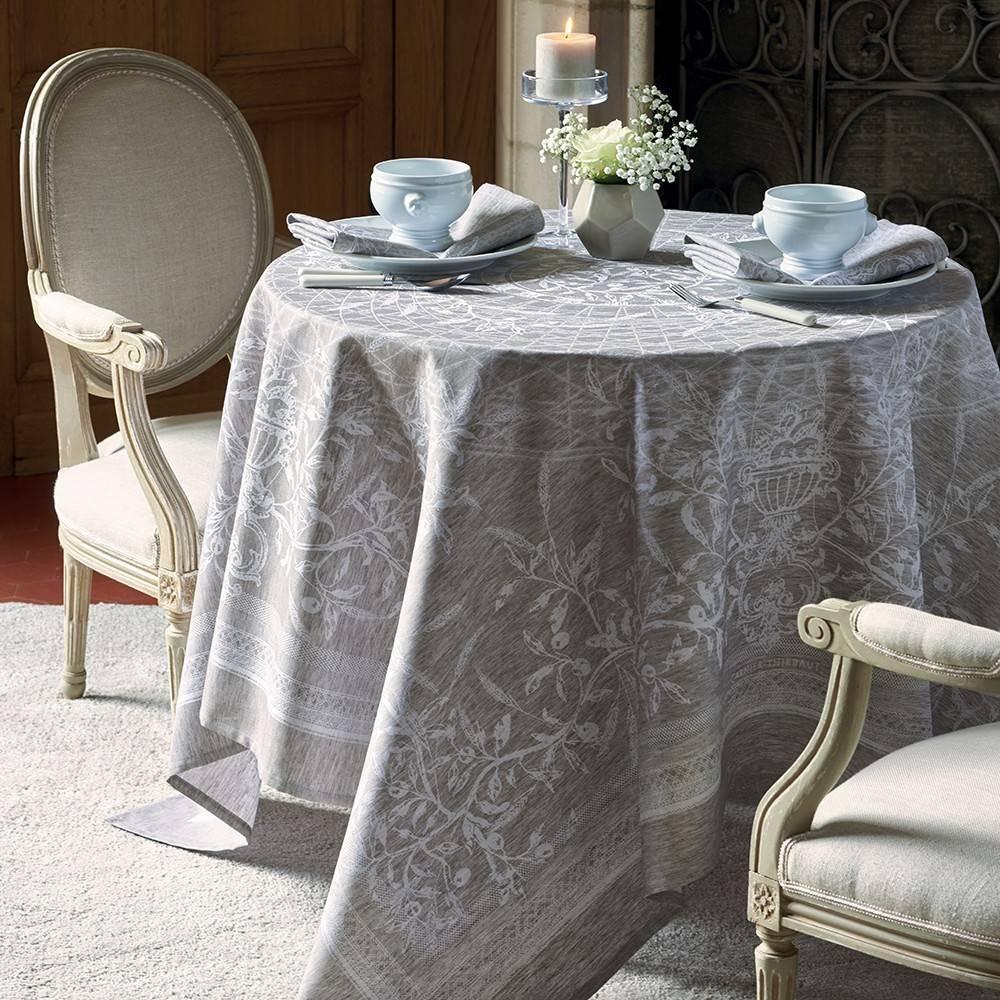 garnier thiebaut tischdecke persephone etain 115 115 cm wohndekor m ller. Black Bedroom Furniture Sets. Home Design Ideas