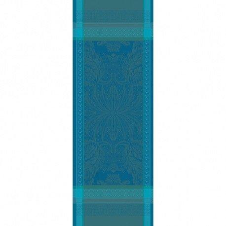Garnier Thiebaut Tischläufer Isaphire emeraude , 54/149 cm