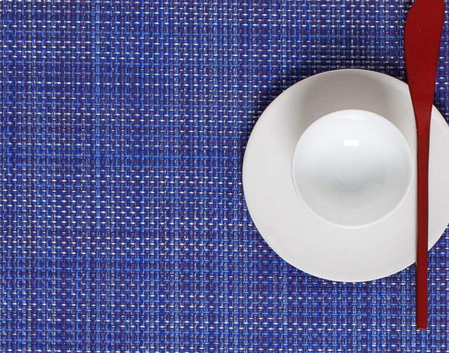 chilewich Tischset Mini Basketweave, blueberry