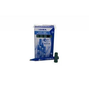 Lyra Viltstift watervast groen 2-6mm per doosje | 10stuks