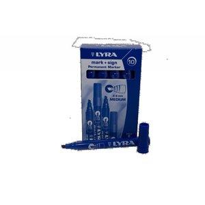 Lyra Viltstift watervast blauw 2-6mm per doosje | 10stuks
