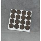 Zelfklevend vilt 18mm rond bruin (16stuks)